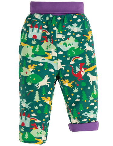 Image of Frugi Rory Reversible Pull Ups -  Scots Pine Fairytale