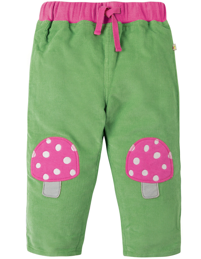 Frugi Little Cord Patch Trouser - Meadow/Toadstools - Organic Cotton