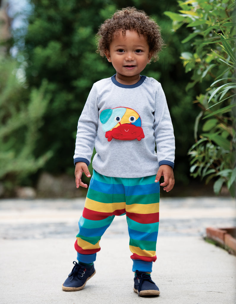 Frugi Parsnip Pants - Rainbow Stripe