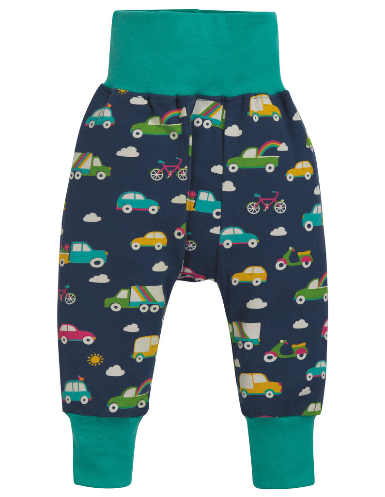 Frugi Parsnip Pants - Space Blue Rainbow Roads - Tilly & Jasper