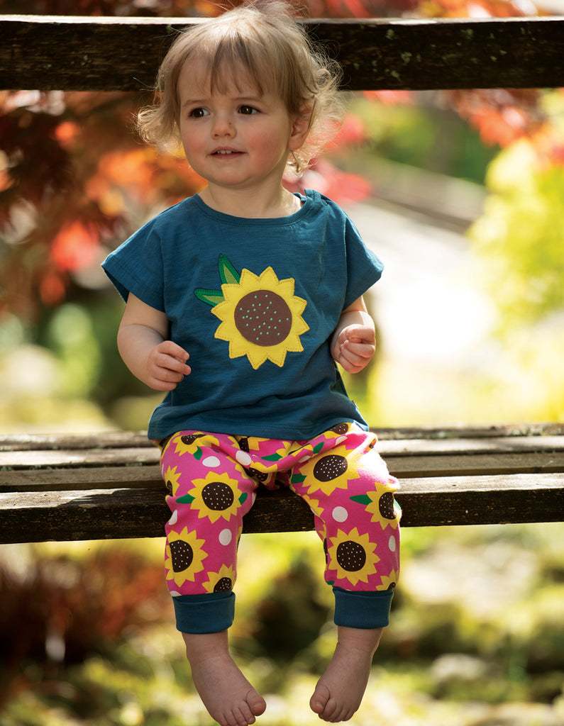 Frugi Parsnip Pants - Flamingo Sunflowers