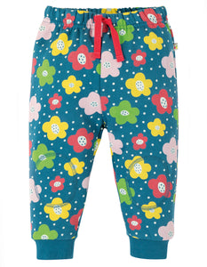 Frugi Snuggle Crawlers - Steely Blue Floral Spot