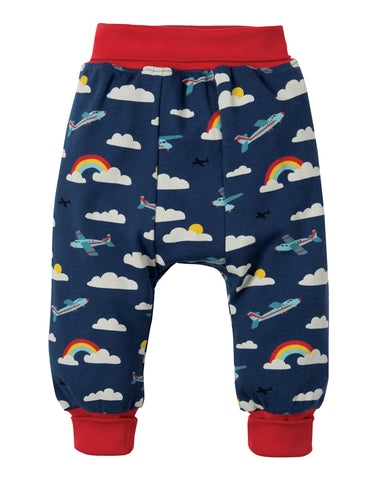Frugi Parsnip Pants - Marine Blue Fly Away - Tilly & Jasper