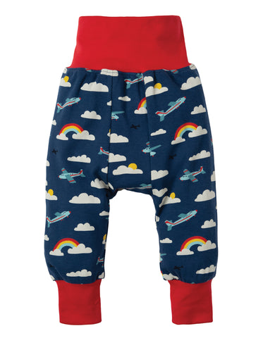 Image of Frugi Parsnip Pants - Marine Blue Fly Away - Tilly & Jasper