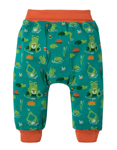 Image of Frugi Parsnip Pants - Samson Green Frog Pond - Tilly & Jasper