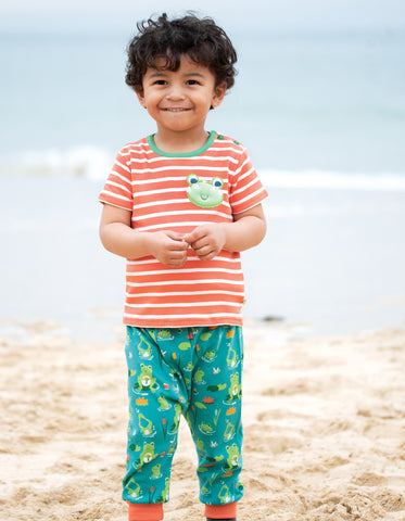 Image of Frugi Parsnip Pants - Samson Green Frog Pond