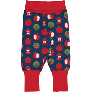 Maxomorra Rib Pants -Apple