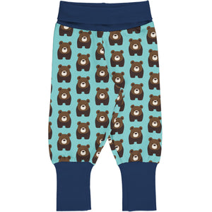 Maxomorra Rib Pants - Bear
