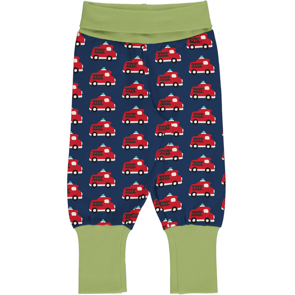 Maxomorra Rib Pants - Fire Truck