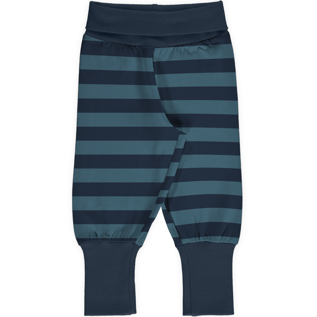 Maxomorra Rib Pants - Midnight Stripe