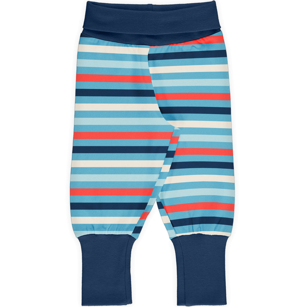 Maxomorra Rib Pants - Sky Stripe