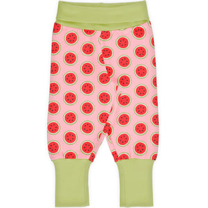 Maxomorra Rib Pants - Watermelon
