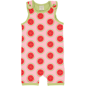 Maxomorra Short Dungarees - Watermelon