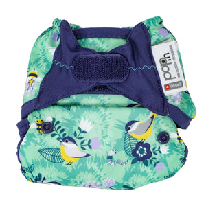 Close Reusable Nappy Cover - Endangered Garden Collection - Round The Garden