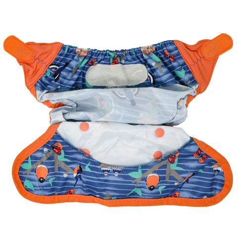 Image of Close Reusable Nappy Cover - Endangered Garden Collection - Twilight Garden