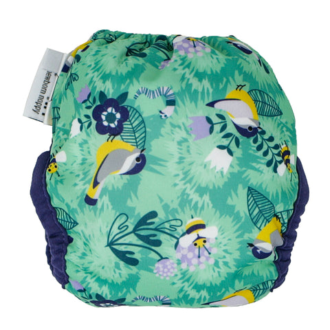 Close Single Printed Newborn Nappy - Endangered Garden Collection - Round The Garden