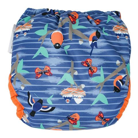 Close Single Printed Nappy Bamboo - Endangered Garden Collection - Twilight Garden
