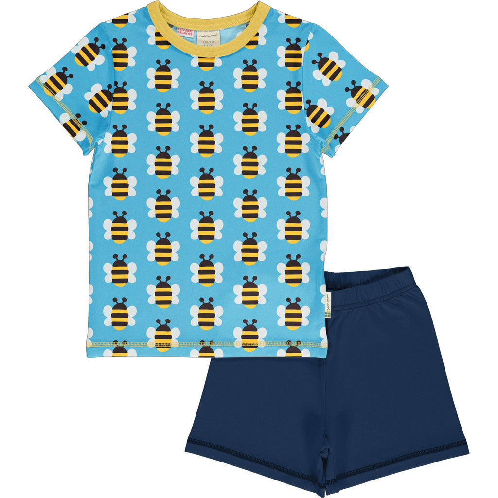 Maxomorra Short Sleeve Pyjama Set - Humble Bumblebee