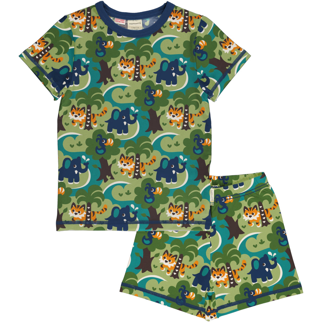 Maxomorra Pyjama Set SS - Jungle