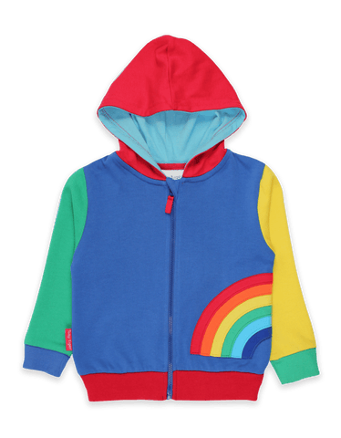 Image of Toby Tiger Rainbow Applique Hoodie