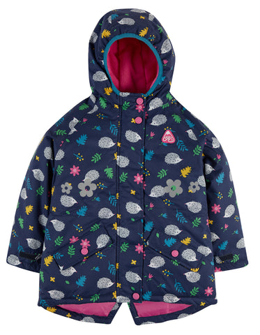 Image of Frugi Explorer Waterproof Coat - Hedgehogs