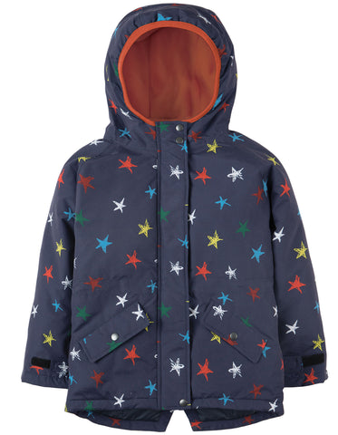 Image of Frugi Marco Explorer Waterproof Coat - Northern Stars - Tilly & Jasper