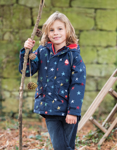 Frugi Marco Explorer Waterproof Coat - Northern Stars