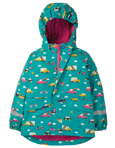 Frugi Puddle Buster Coat - Aqua Rainbow Roads - Tilly & Jasper
