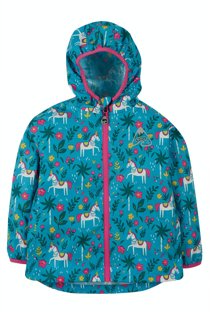 Frugi Rain Or Shine Jacket - Teal Indian Horse