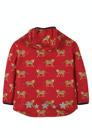 Image of Frugi Rain Or Shine Jacket - True Red Leopards