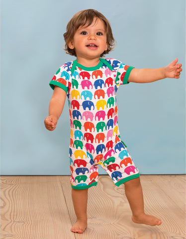 Image of Toby Tiger Multi Elly Print Romper