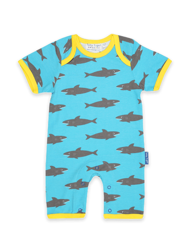 Image of Toby Tiger Shark Print Romper