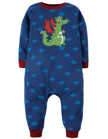 Frugi Snug And Cosy Romper - Westward Wind/Dragon