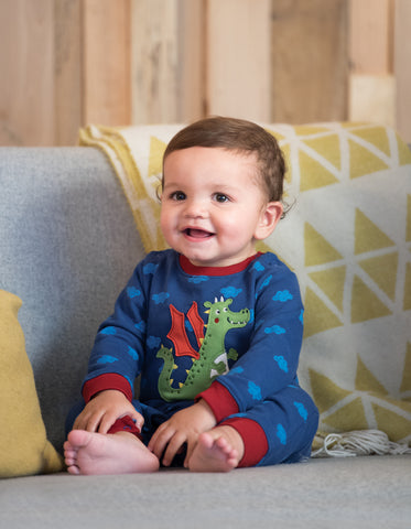 Image of Frugi Snug And Cosy Romper - Westward Wind/Dragon