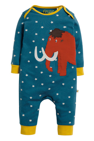 Frugi Charlie Romper - Steely Blue Star/Mammoth - Tilly & Jasper