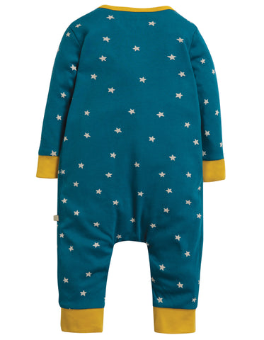 Image of Frugi Charlie Romper - Steely Blue Star/Mammoth - Tilly & Jasper