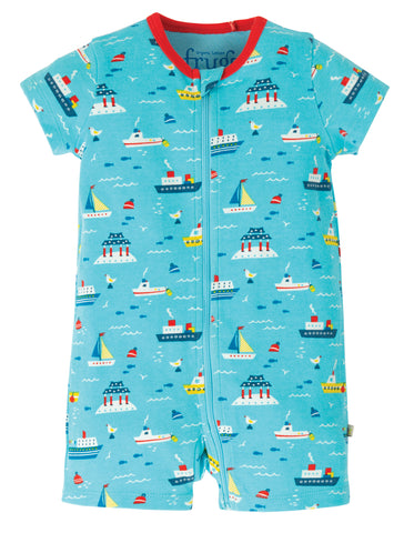 Image of Frugi Reed Romper - Sail The Seas
