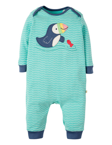 Image of Frugi Charlie Romper - Scilly Seas/Puffin - Tilly & Jasper