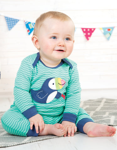 Frugi Charlie Romper - Scilly Seas/Puffin