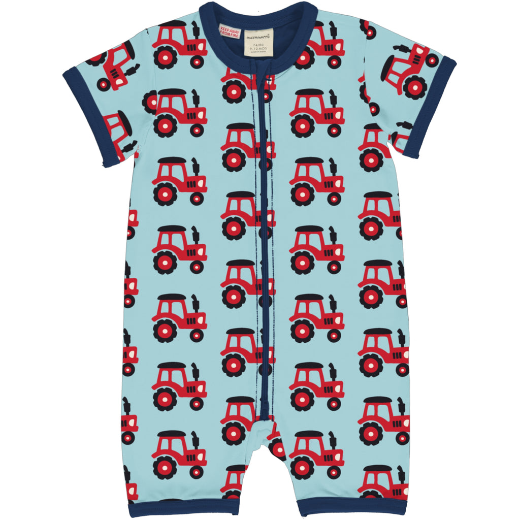 Maxomorra Rompersuit SS - Tractor