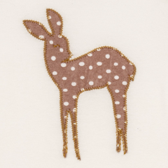 Organic Applique One Piece - Rose Dot Doe