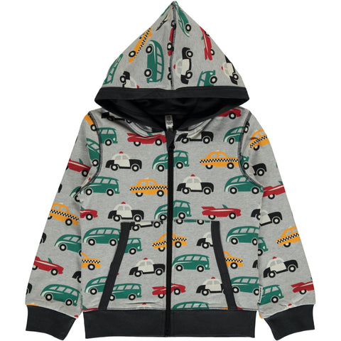 Maxomorra Cardigan Hoodie - Traffic