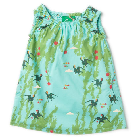 Image of LGR Under The Willows Shoulder Twirl Dress - Organic Cotton