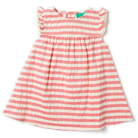 LGR Pale Red  Frill Dress - Organic Cotton