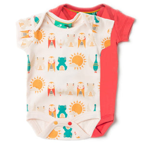 LGR River Friends Baby Body 2 Pack - Organic Cotton