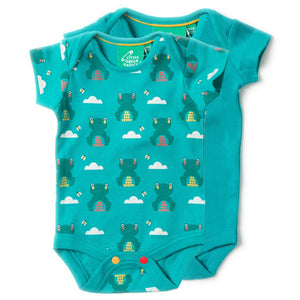LGR River Frog Baby Body 2 Pack - Organic Cotton
