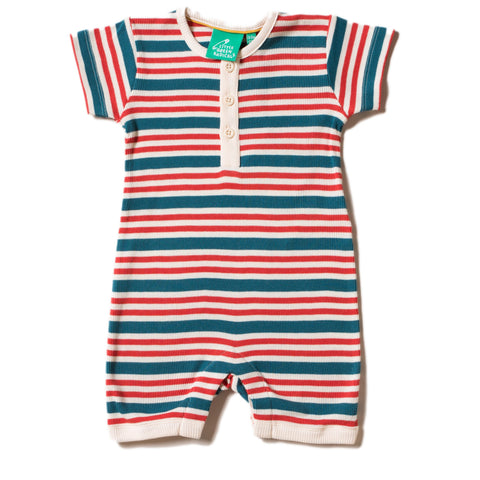 LGR Shortie Babygrow - Nautical Rib