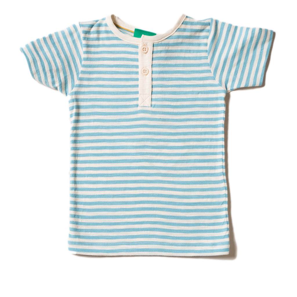 LGR Short Sleeve Everyday Tee - Corn Silk Blue Stripe
