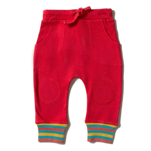 LGR Red Rainbow Rib Joggers