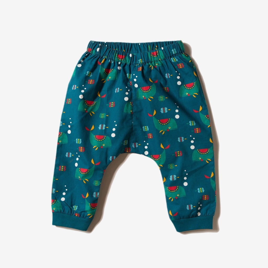 Little Green Radicals Organic Jelly Bean Joggers Lined Nordic Forest 6 9 12